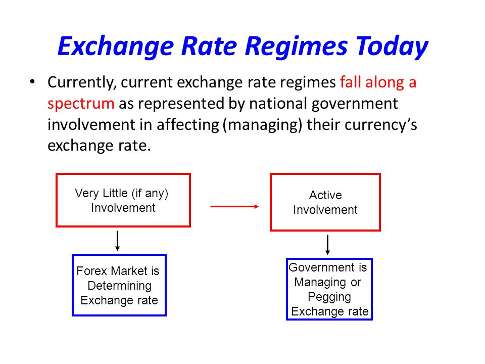 Exchange Rate Regimes Today