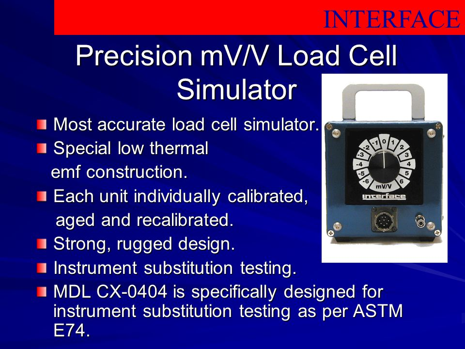 Precision mV/V Load Cell Simulator
