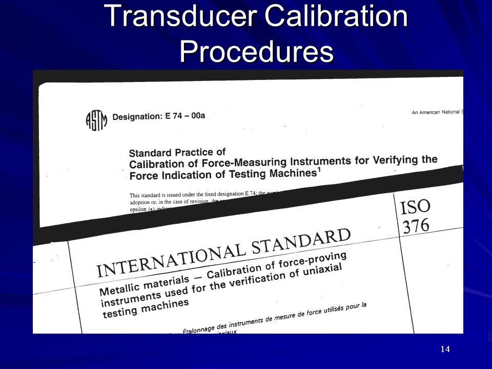 Transducer Calibration Procedures