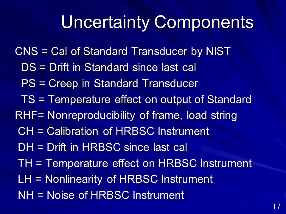 Uncertainty Components