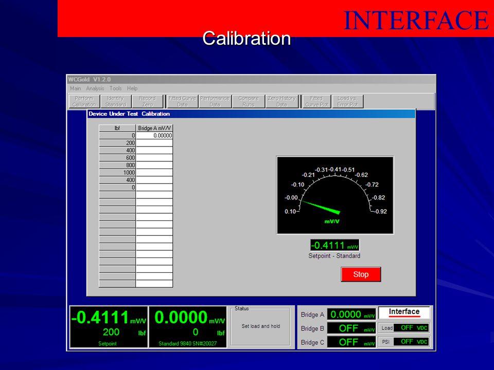 INTERFACE Calibration