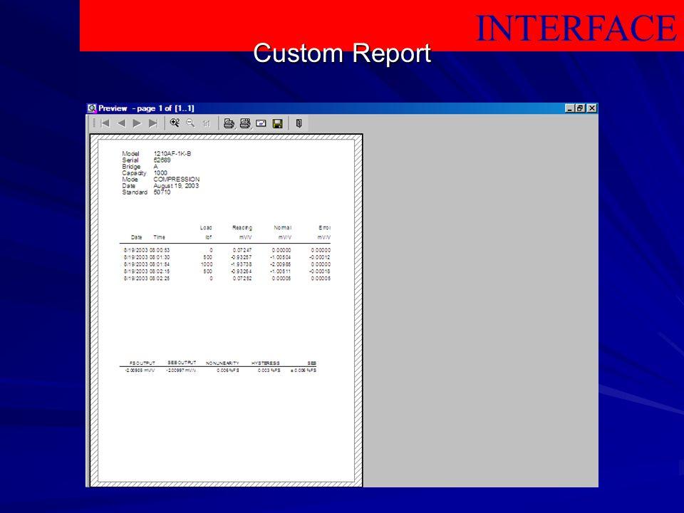 INTERFACE Custom Report