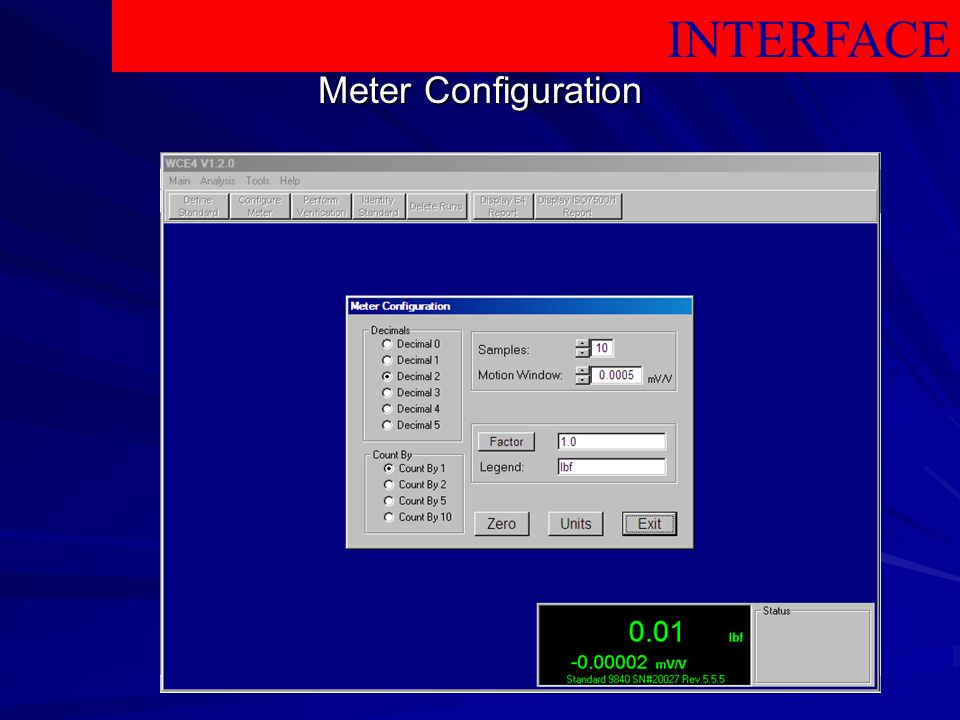 INTERFACE Meter Configuration