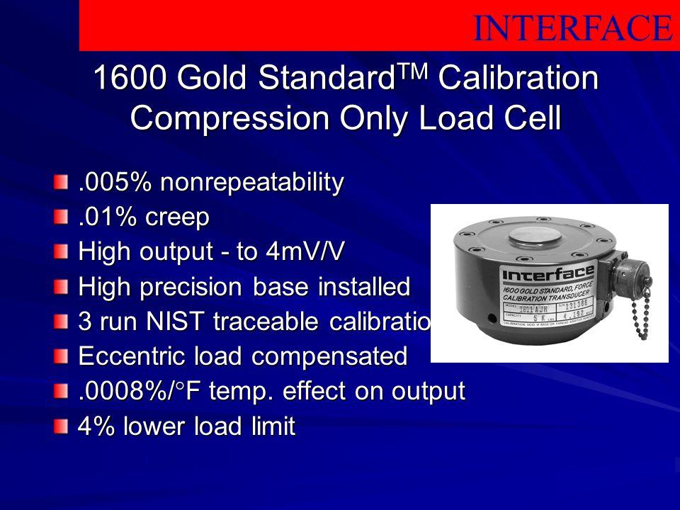 1600 Gold StandardTM Calibration Compression Only Load Cell