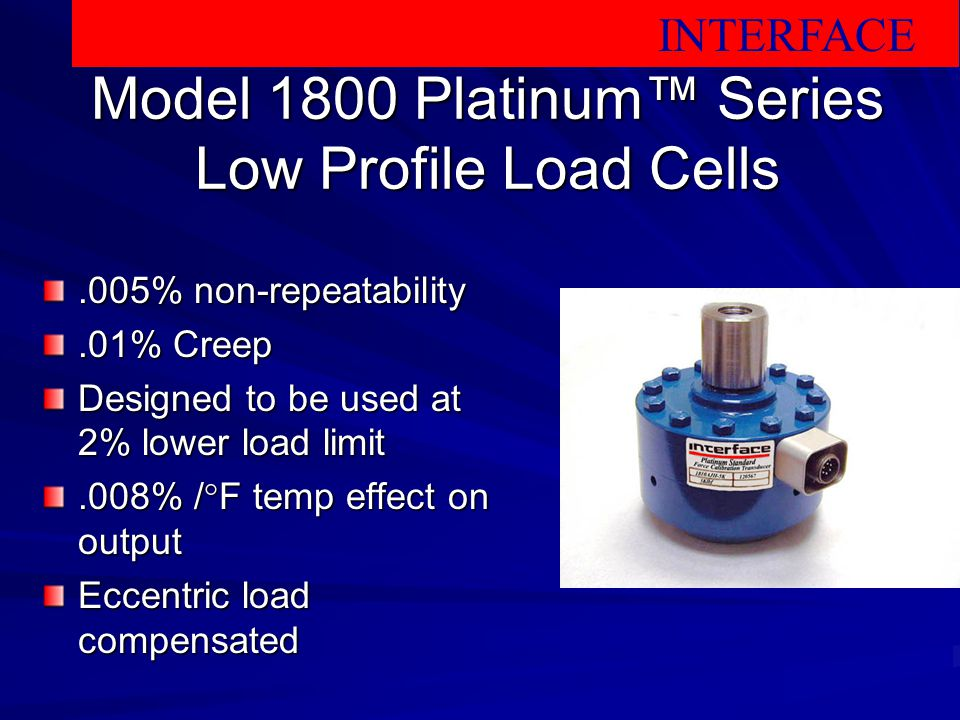 Model 1800 Platinum™ Series Low Profile Load Cells