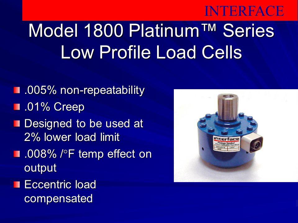 Model 1800 Platinum™ Series Low Profile Load Cells