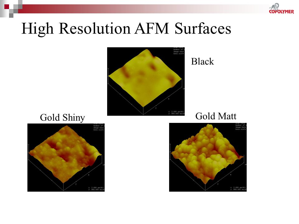 High Resolution AFM Surfaces