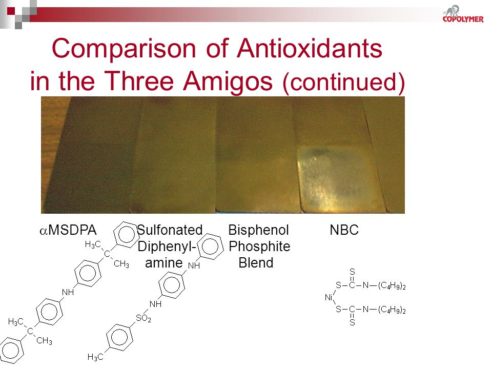 Comparison of Antioxidants in the Three Amigos (continued)