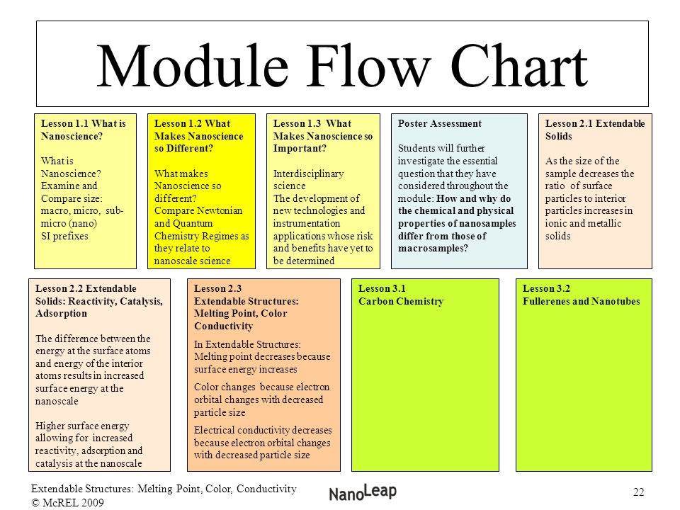 Module Flow Chart Lesson 1.1 What is Nanoscience What is Nanoscience