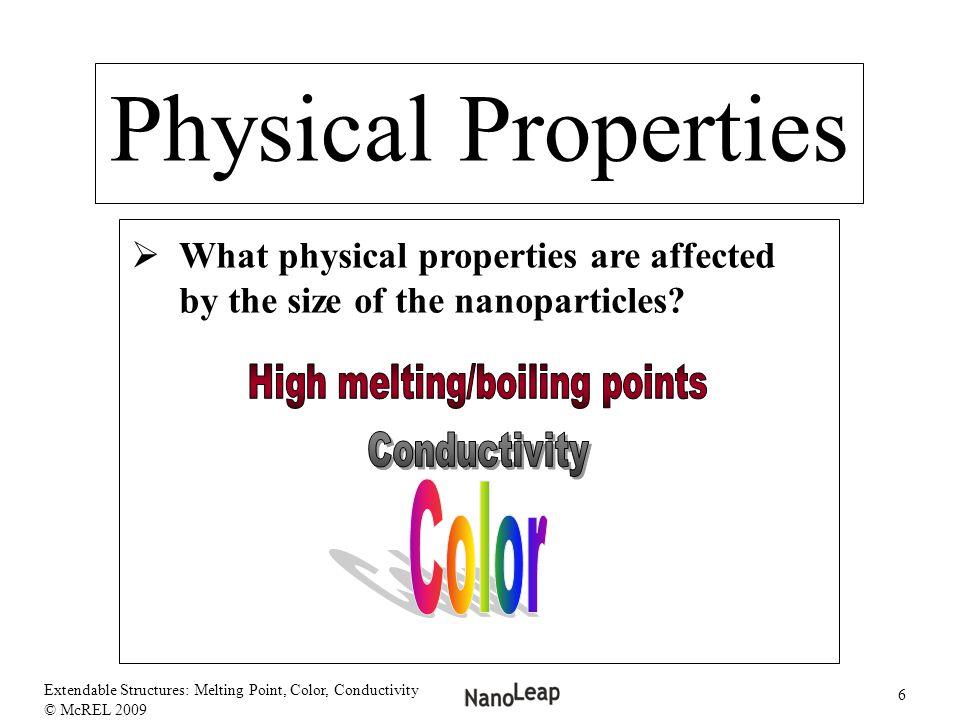 High melting/boiling points