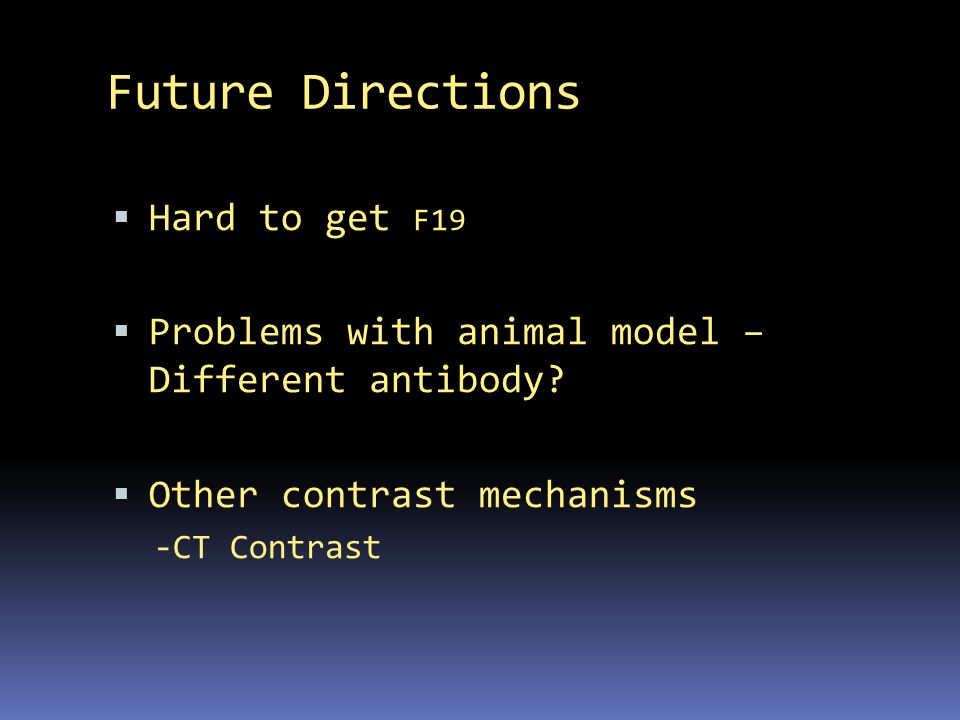Future Directions Hard to get F19