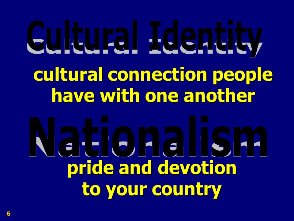 cultural connection people have with one another