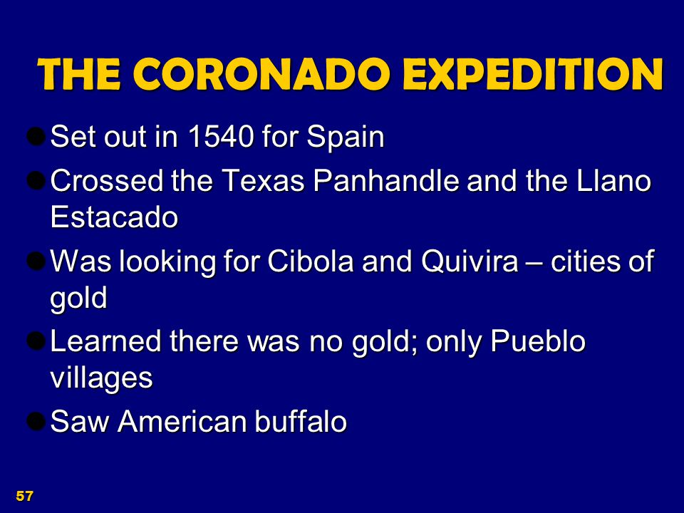 THE CORONADO EXPEDITION