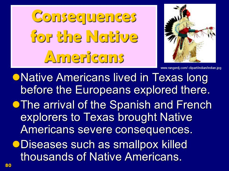 Consequences for the Native Americans