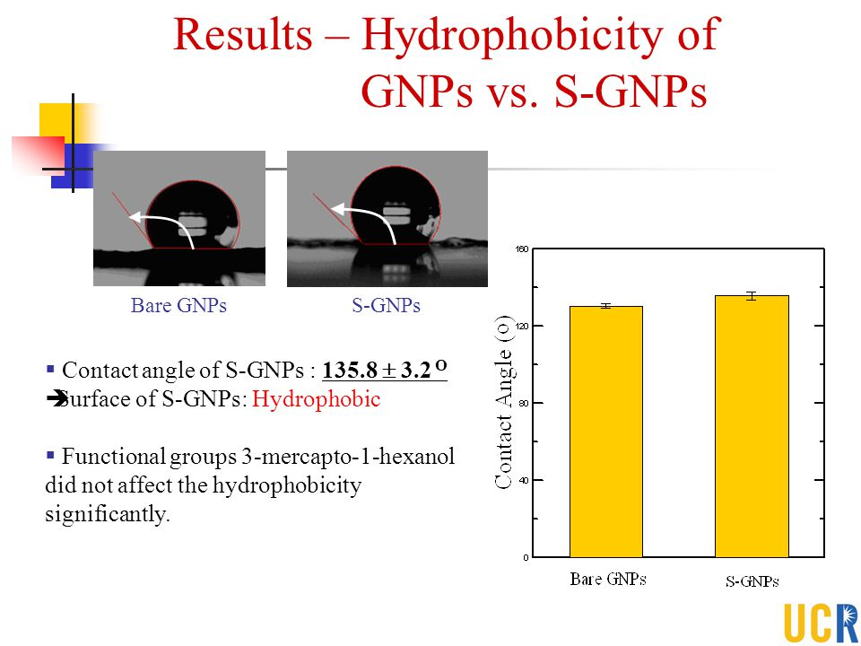Results – Hydrophobicity of