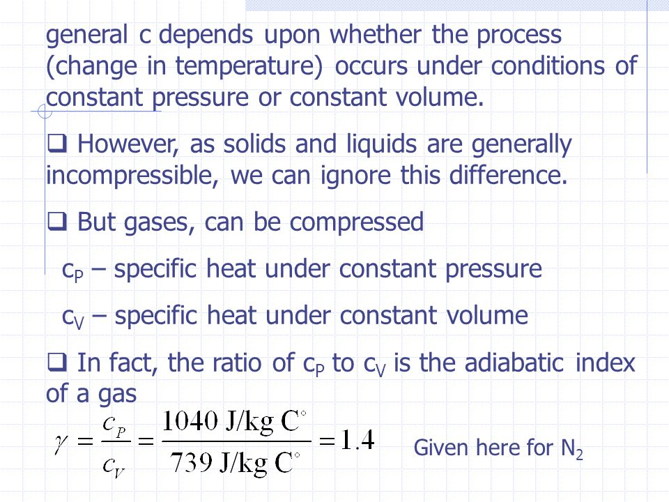 But gases, can be compressed