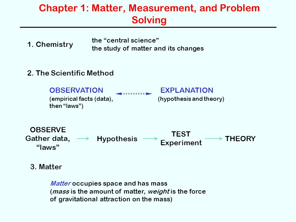 chapter matter measurement and problem solving ppt  chapter 1 matter measurement and problem solving