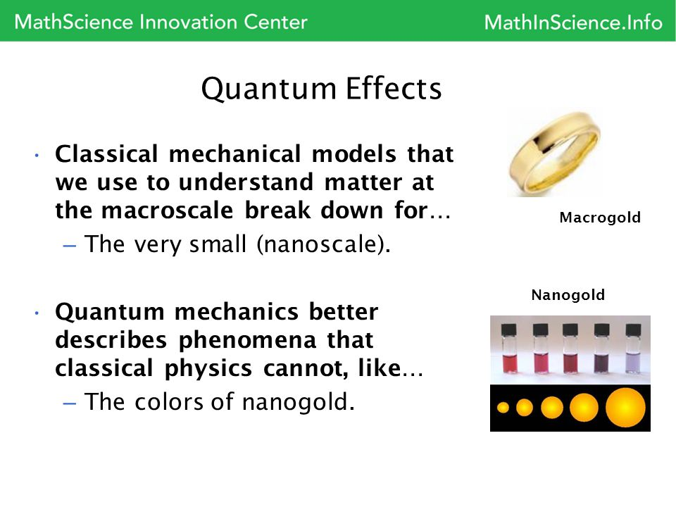 Quantum Effects Classical mechanical models that we use to understand matter at the macroscale break down for…