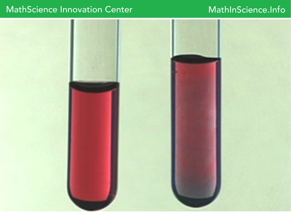 A layer of absorbed citrate anions on the surface of gold nanoparticles keep the nanoparticles separated (left).