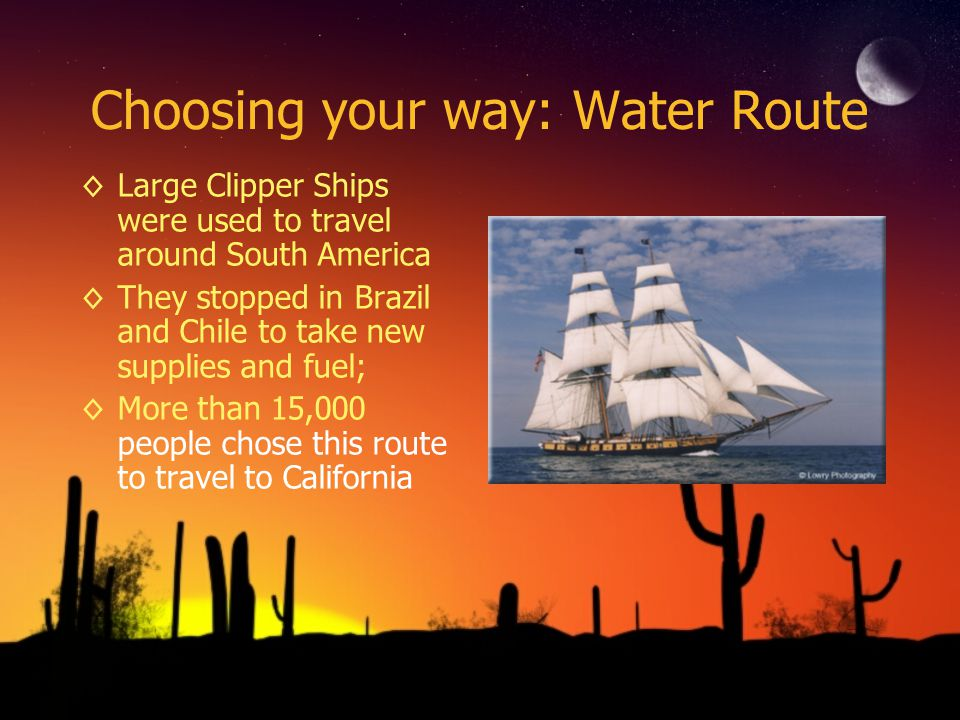 Choosing your way: Water Route