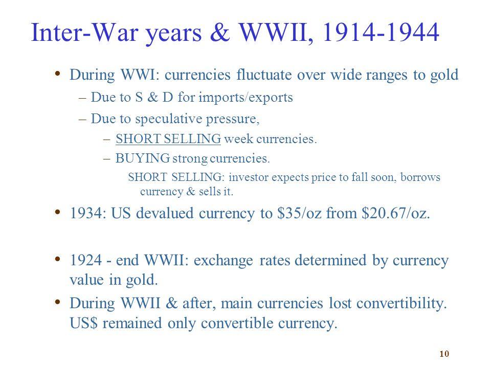 Inter-War years & WWII, 1914-1944