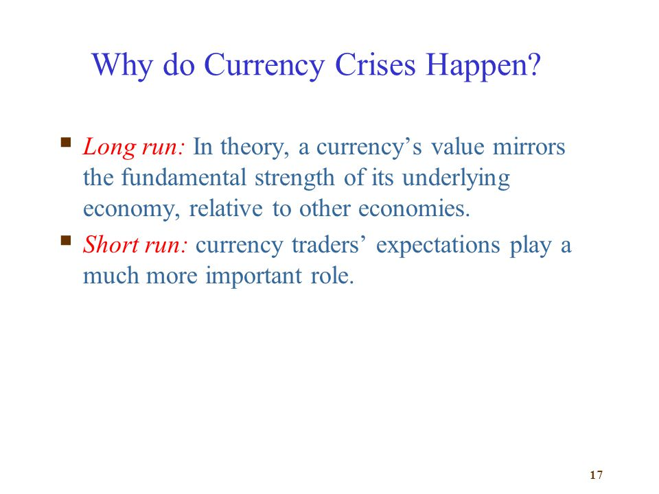 Why do Currency Crises Happen