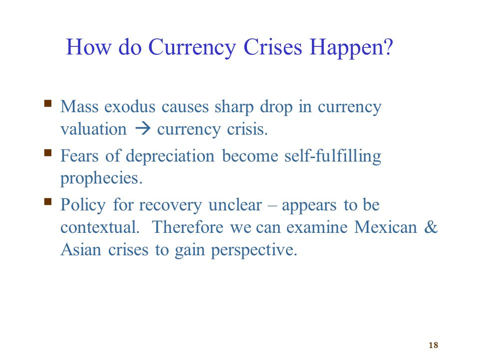 How do Currency Crises Happen