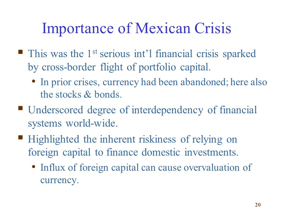 Importance of Mexican Crisis