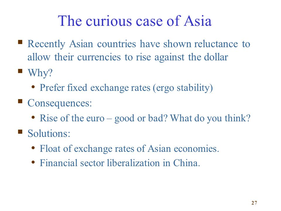 The curious case of Asia