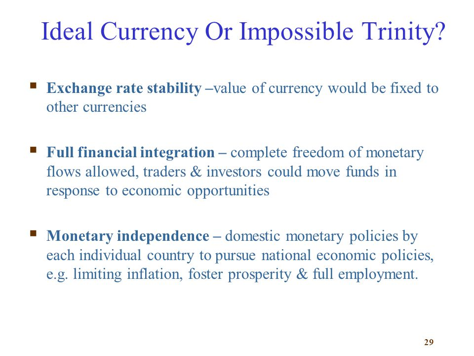 Ideal Currency Or Impossible Trinity