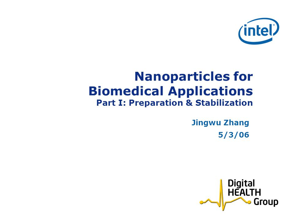 Nanoparticles for Biomedical Applications Part I: Preparation & Stabilization