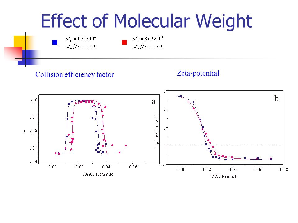 the effect of molecular weight on