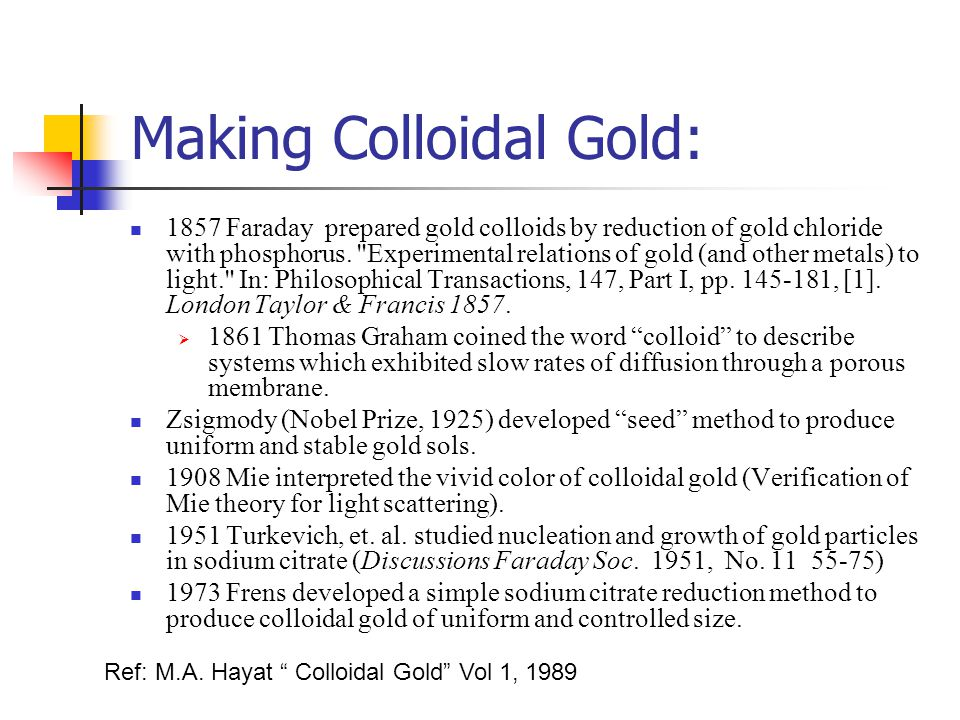 Making Colloidal Gold: