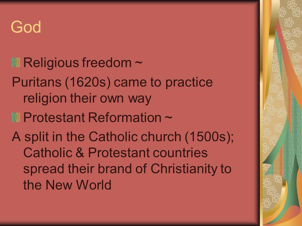 God Religious freedom ~