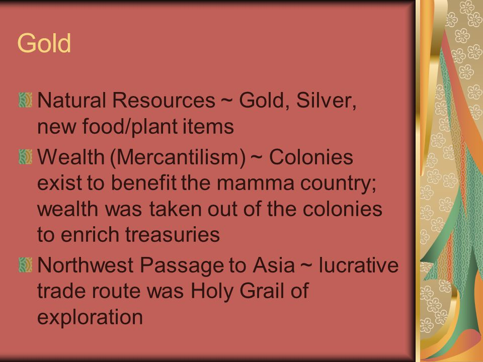 Gold Natural Resources ~ Gold, Silver, new food/plant items