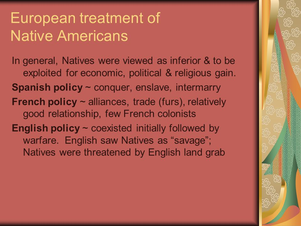 European treatment of Native Americans