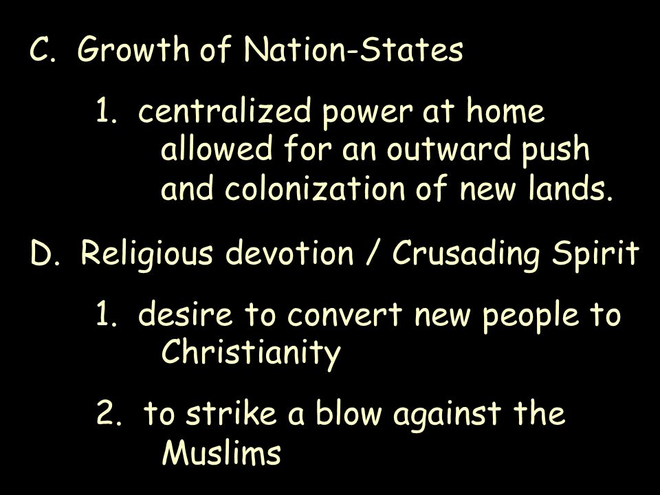 C. Growth of Nation-States