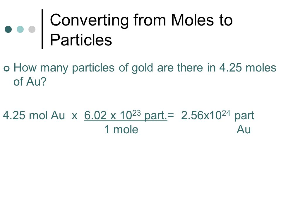 Converting from Moles to Particles