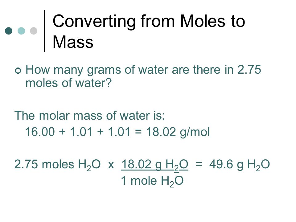 Converting from Moles to Mass