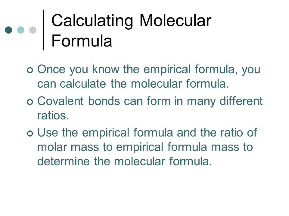 Calculating Molecular Formula