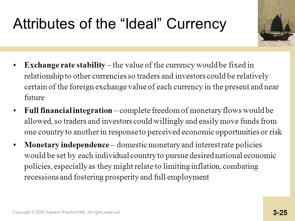 Attributes of the Ideal Currency