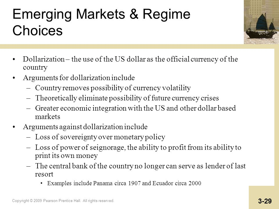 Emerging Markets & Regime Choices