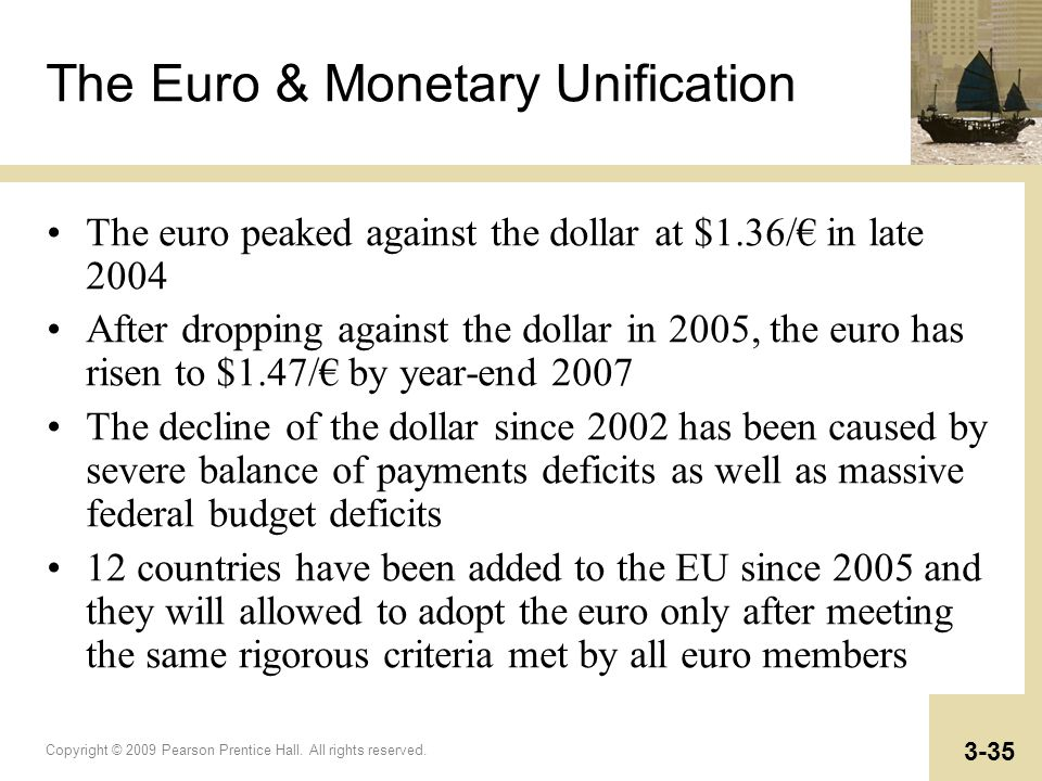 The Euro & Monetary Unification