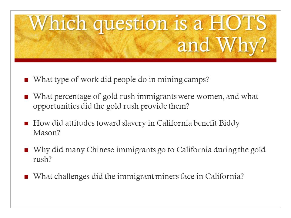 Which question is a HOTS and Why