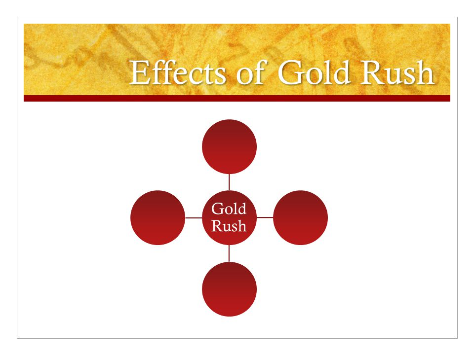 Effects of Gold Rush Gold Rush