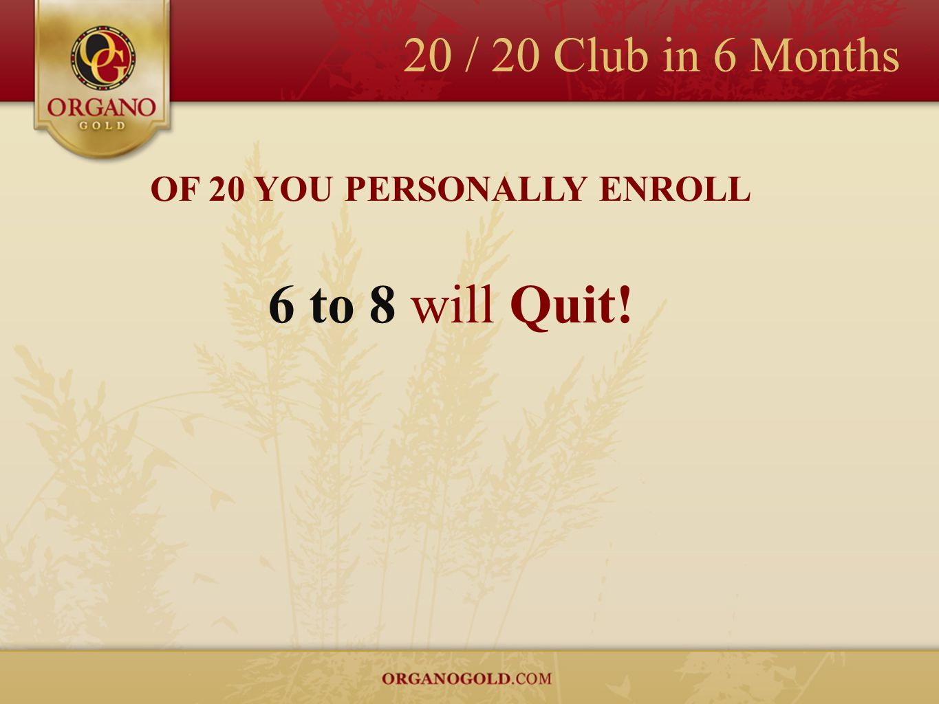 OF 20 YOU PERSONALLY ENROLL