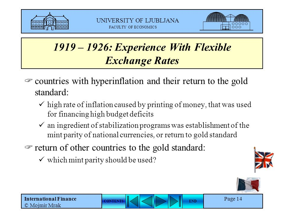 1919 – 1926: Experience With Flexible Exchange Rates