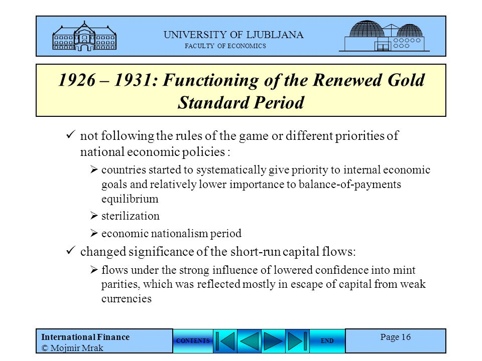 1926 – 1931: Functioning of the Renewed Gold Standard Period