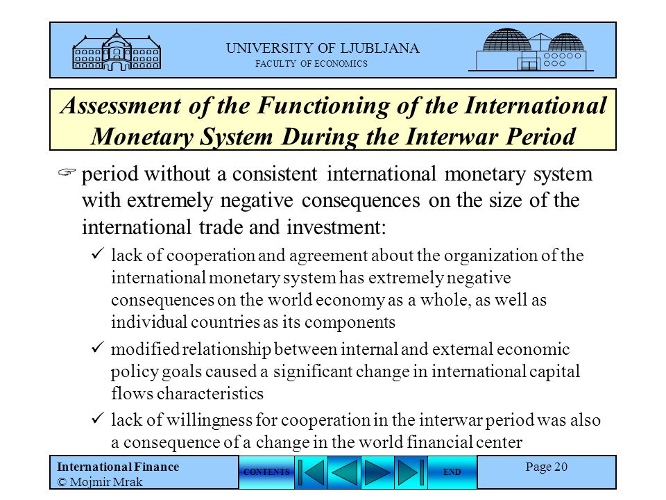Assessment of the Functioning of the International Monetary System During the Interwar Period