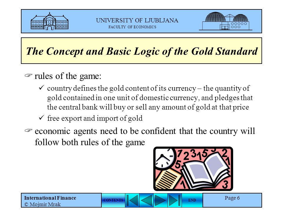 The Concept and Basic Logic of the Gold Standard